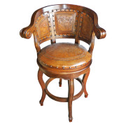 Cardenal Barstool with Moose Pattern and Rustic Finish
