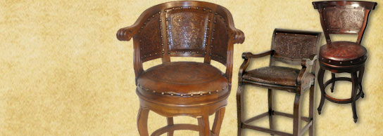 Shop Barstools & New World Trading u2013 The leader in hand-tooled leather home ... islam-shia.org