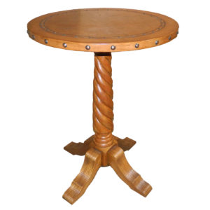 Solomon Bar Table, Plain with Tacks, Rustic