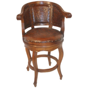Cardinal Barstool, Colonial, Antique Brown