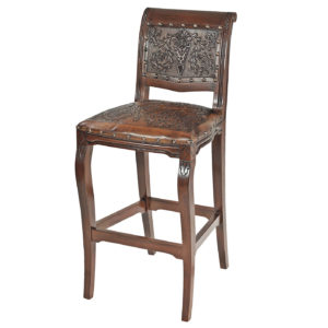 Imperial Barstool, Colonial, Antique Brown