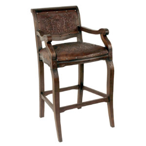 Imperial Barstool, with arms, Colonial, Antique Brown