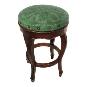 Spanish Heritage Round Barstool, Colonial, Green