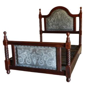 Solomon Bed, Colonial, Ash, Antique Brown
