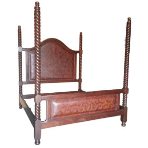 Solomon Four Post Bed, Colonial, Antique Brown