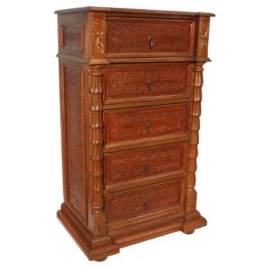 High Boy Dresser, Colonial, Rustic