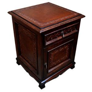 Spanish Heritage Nightstand, Classic, Antique Brown