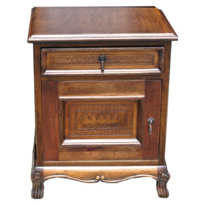 Spanish Heritage Nightstand, Posse, Antique Brown