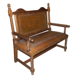 Solomon Bench, with back, Classic, Rustic