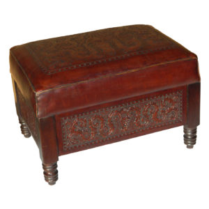 Angela Stool, Colonial, Antique Brown