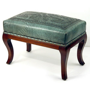 Foot Bench, Colonial, Turquoise