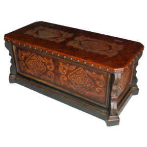 Alamo Trunk Table, Two Tones