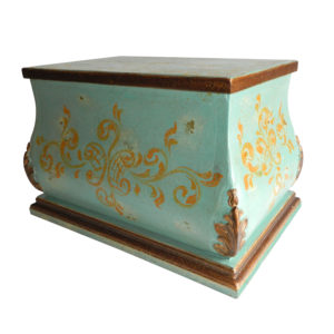 Santa Fe Trunk, Painted Turquoise