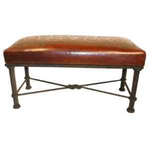 Western Iron Bench, Colonial, Antique Brown