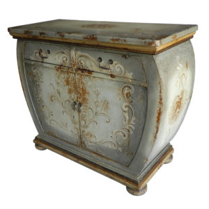 Florencia Bombe Buffet, Painted Grey