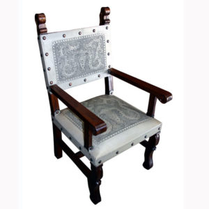 Spanish Heritage Arm Chair, Colonial, Ash