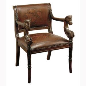 Stampede Arm Chair, Antique Brown