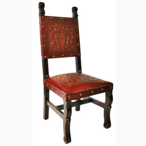 Spanish Heritage Chair, Colonial, Antique Brown