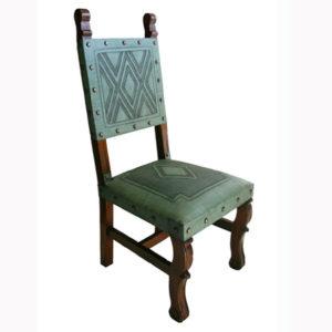 Spanish Heritage Chair, Diamond, Turqoise