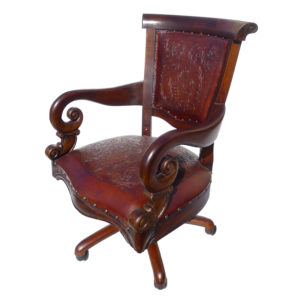 Sammy Office Chair, Colonial, Antique Brown