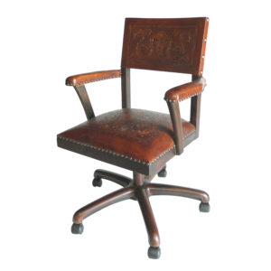Small Office Chair, Colonial, Antique Brown