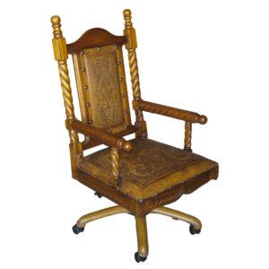 Solomon Office Chair, Colonial, Golden