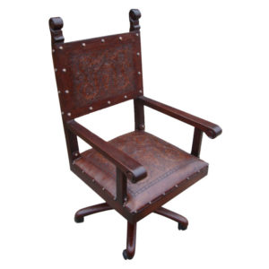 Spanish Heritage Office Chair, Colonial, Antique Brown