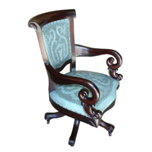 Swivel Office Chair, Colonial, Turqoise