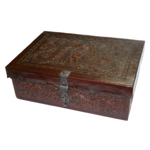 Small Box Flat Top, Colonial, Antique Brown