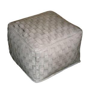 square-silver-braided-ottoman
