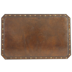Plain with Nailheads Hand Tooled Leather Pattern