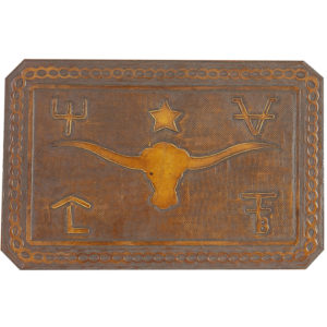 Steer Brands Hand Tooled Leather Pattern