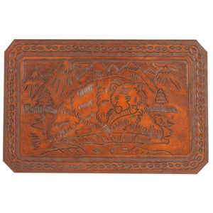 Bear Hand Tooled Leather Pattern
