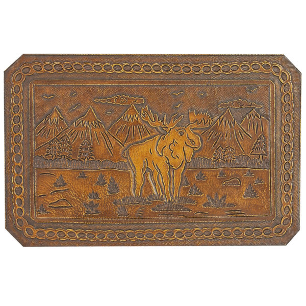 Moose Hand Tooled Leather Pattern