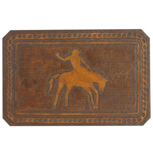 Bronco Hand Tooled Leather Pattern