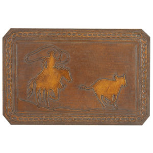 Calf Roper Hand Tooled Leather Pattern