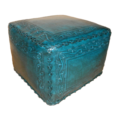 Large Ottoman, Classic Stitch, Teal
