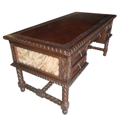 Small Solomon Desk, Brindle, Antique Brown