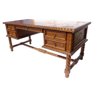 Solomon Desk, Fleur de Lys, Rustic