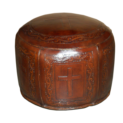Antique Brown, C1 Cross Ottoman