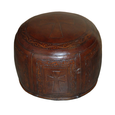 Antique Brown, C2 Cross Ottoman