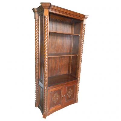 Solomon Bookcase, Fleur de Lys, Rustic