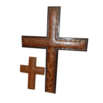 Jumbo Leather Cross, C1, Antique Brown
