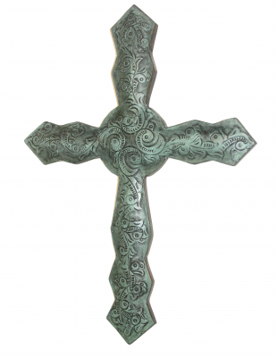 Leather Cross_C4 No Frame Turquoise