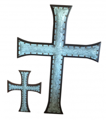Jumbo Leather Cross, C2, Turquoise