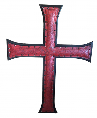 Jumbo Leather Cross, C2, Red