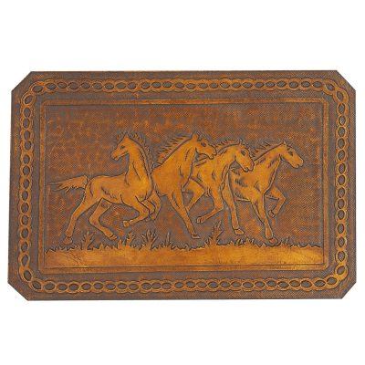 Fire Horses Leather Pattern