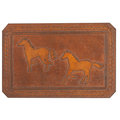 Running Horses Leather Pattern