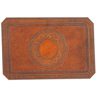 Circle Rope Hand Tooled Leather Pattern