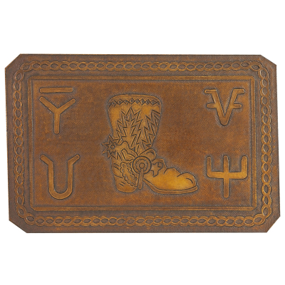 Boots Hand Tooled Leather Pattern